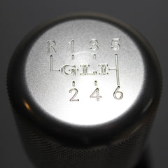 "Shift Knobs - EURO IMPULSE WEIGHTED BILLET SHIFT KNOB- SILVER- (6-SPD+""GLI"") W/ ADAPTER"