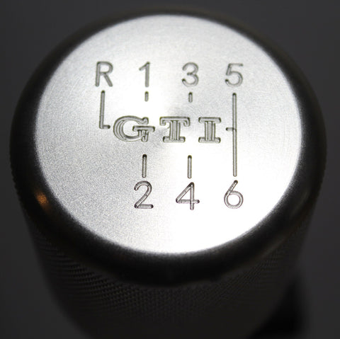 "Shift Knobs - EURO IMPULSE WEIGHTED BILLET SHIFT KNOB- SILVER- (6-SPD + ""GTI"") W/ ADAPTER"