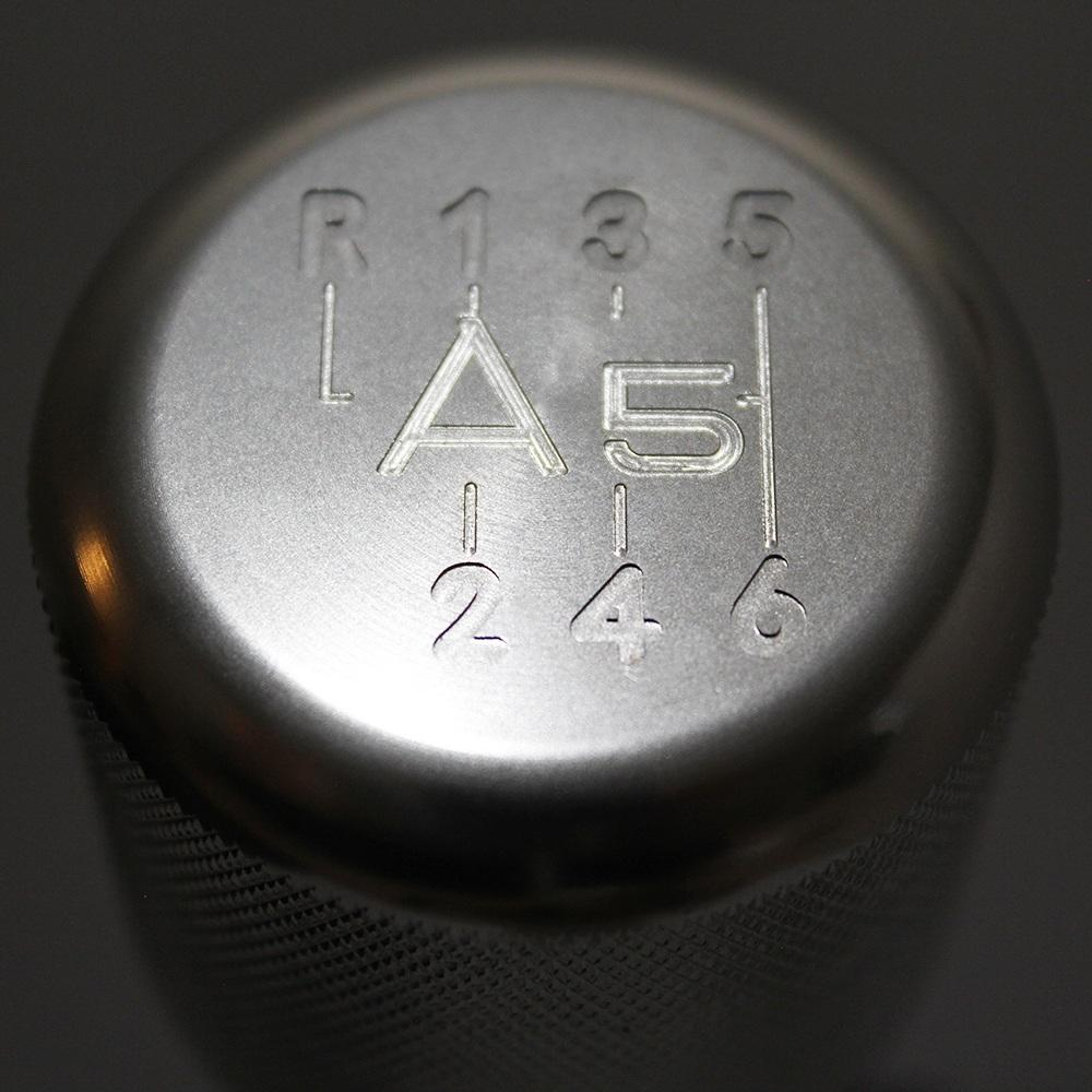 "Shift Knobs - WEIGHTED BILLET SHIFT KNOB- SILVER- (6-SPD + ""A5"")"