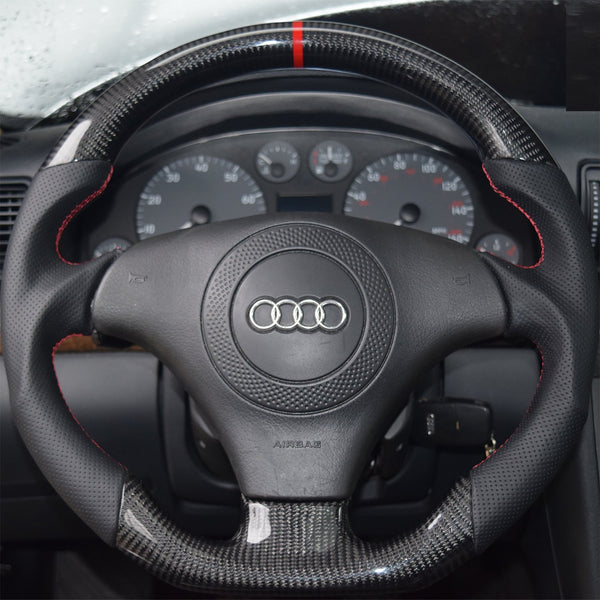 Wheels - CARBON FIBER FLAT BOTTOM STEERING WHEEL - B5