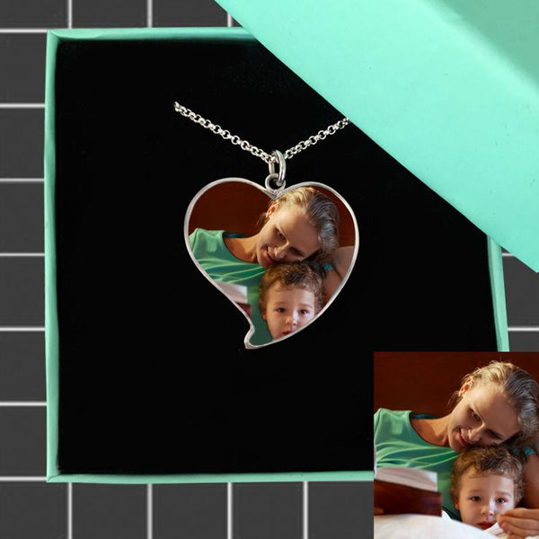 Luxury Heart Photo Necklace