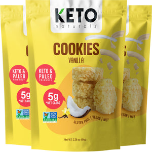 Keto Cookies, Vanilla (Pack of 3).