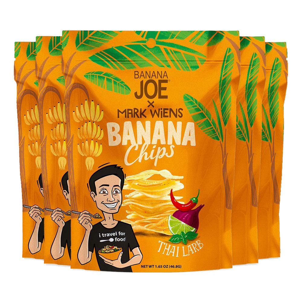 Mark Wiens Thai Larb Flavored Banana Chips. 5-Pack.