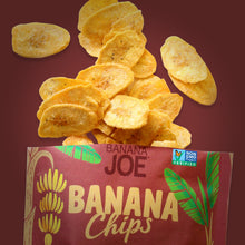 Load image into Gallery viewer, Limited Offer. Buy 2 Get 2 Free. Banana Joe Chips, Hickory BBQ, 12 x 1oz Single Serve Bags.