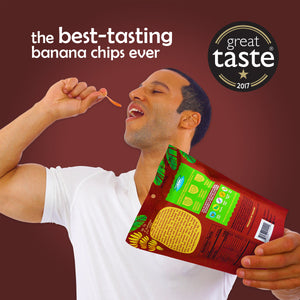 Limited Offer. Buy 2 Get 2 Free. Banana Joe Chips, Hickory BBQ, 12 x 1oz Single Serve Bags.