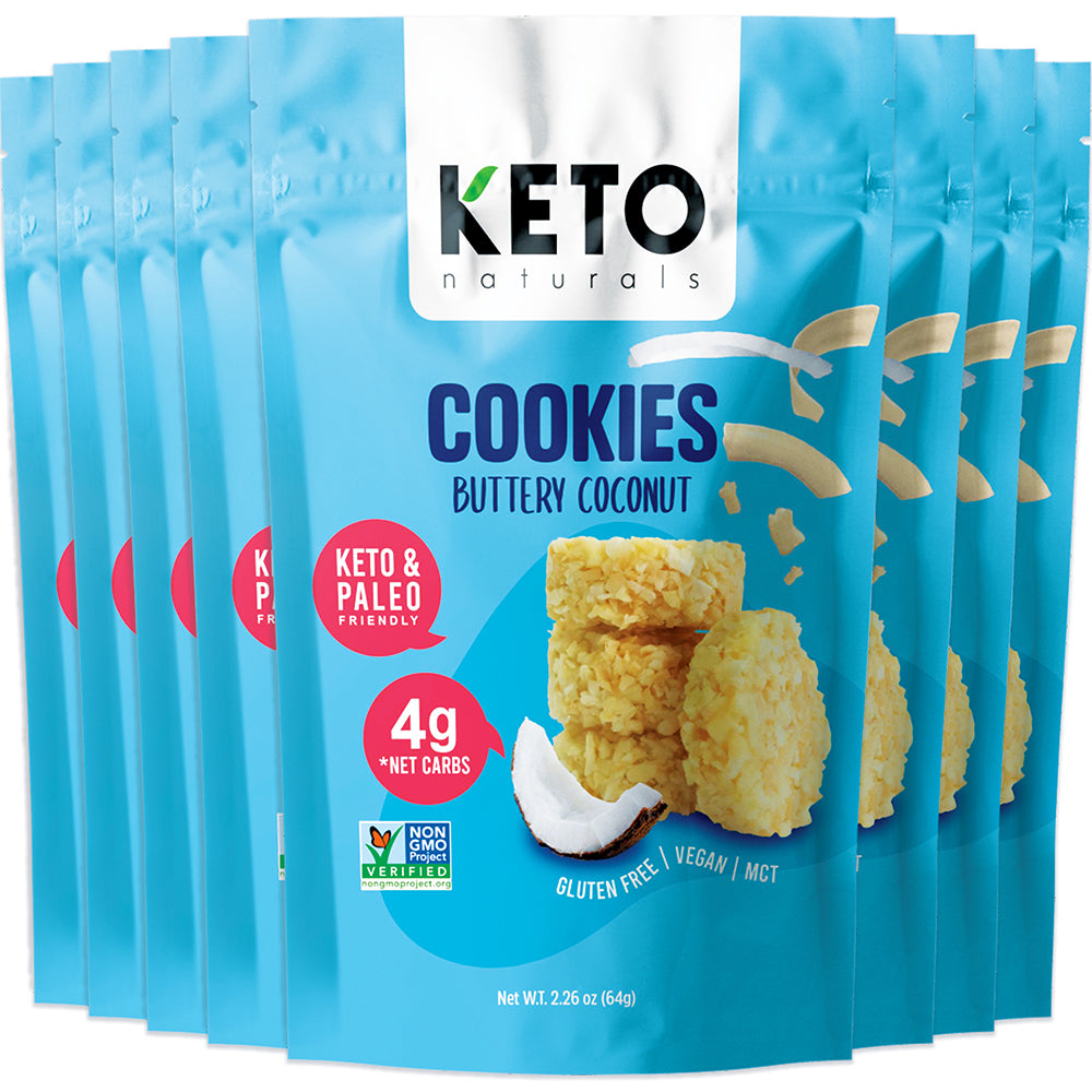 Keto Cookies, Buttery Coconut (Pack of 8).