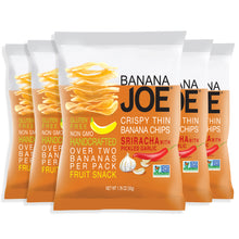 Load image into Gallery viewer, Banana Joe Sriracha Flavored Banana Chips, 5-Pack.