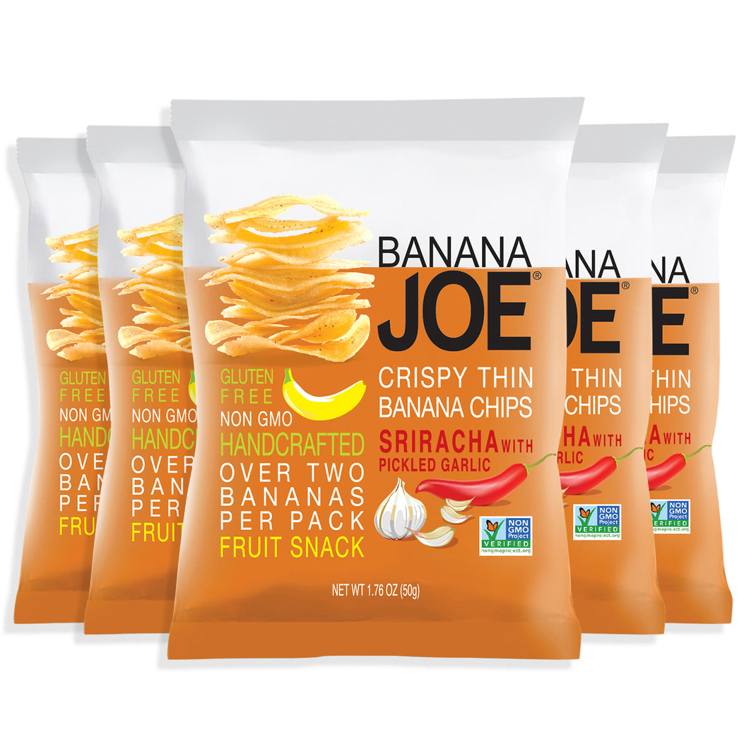 Banana Joe Sriracha Flavored Banana Chips, 5-Pack.