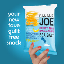 Load image into Gallery viewer, Banana Joe Sea Salt Flavored Banana Chips, 5-Pack.