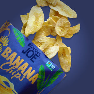 Sea Salt Flavored Banana Chips (Pack of 6)