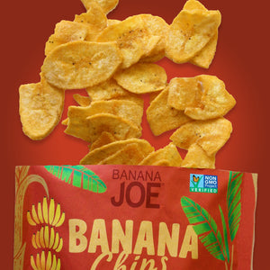 Limited Offer. Buy 2 Get 2 Free. Banana Joe Chips, Thai Sweet Chili, 12 x 1oz Single Serve Bags.