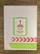 Load image into Gallery viewer, Greeting Card - Happy Birthday Cupcake