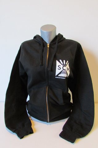 Black and white zip hoodie
