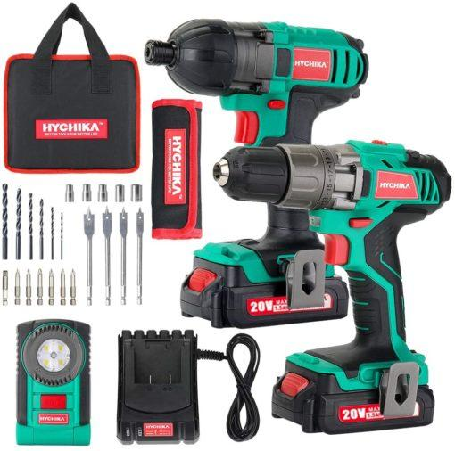 Cordless Drill Driver 20V Max 330 In-lbs and Impact Driver