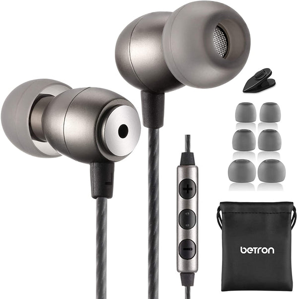 Earphone with Mic and Volume Control, Noise Isolating
