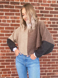 Color-Blocking Crop Sweater