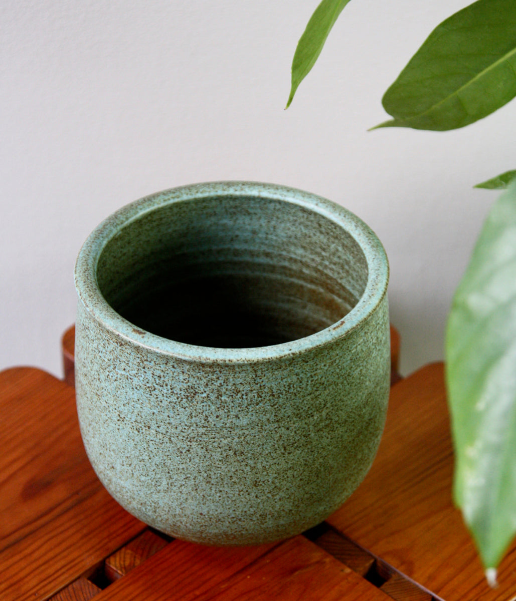 Small Planter <br> Green Glaze <br> KH Würtz