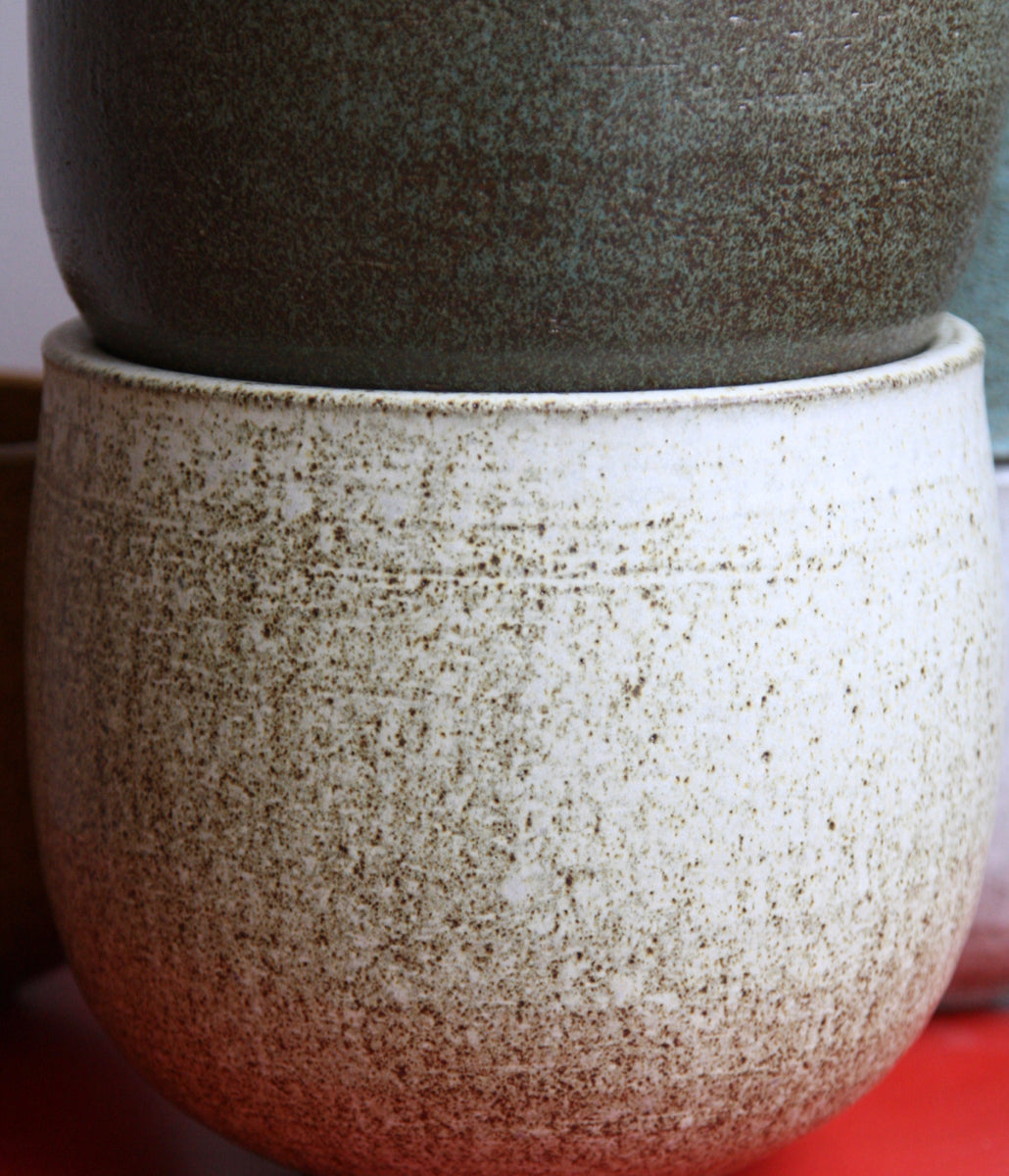 Medium Planter <br> White Glaze <br> KH Würtz