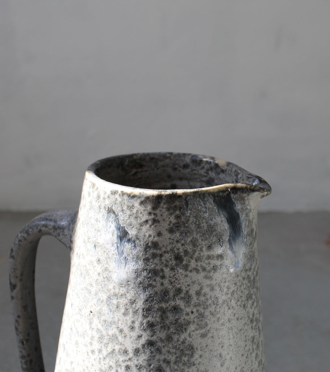 '#9' Over Sized Ewer <br> Grey Glaze