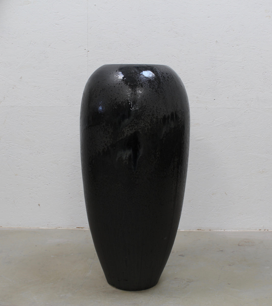 '#22' Huge Floor Vase <br> Black Glaze