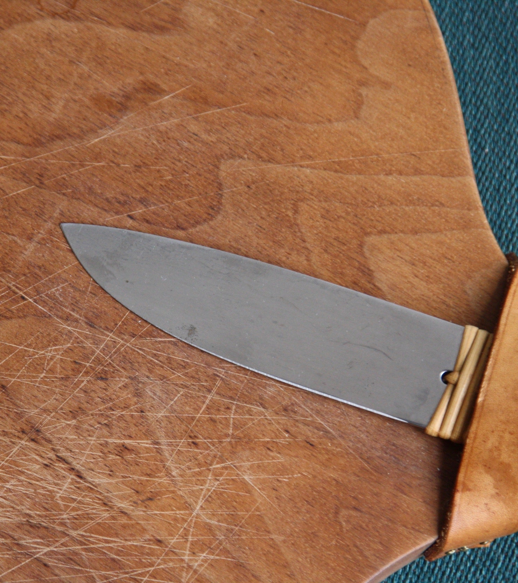 Cutting Board & Knife Set by Carl Auböck