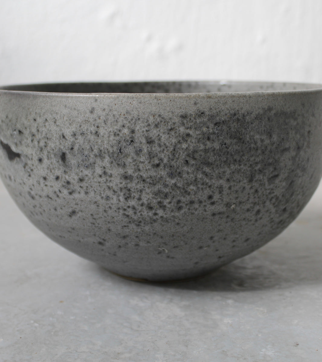 '#61' Deep Karahi Shaped Bowl<br> Grey Glaze