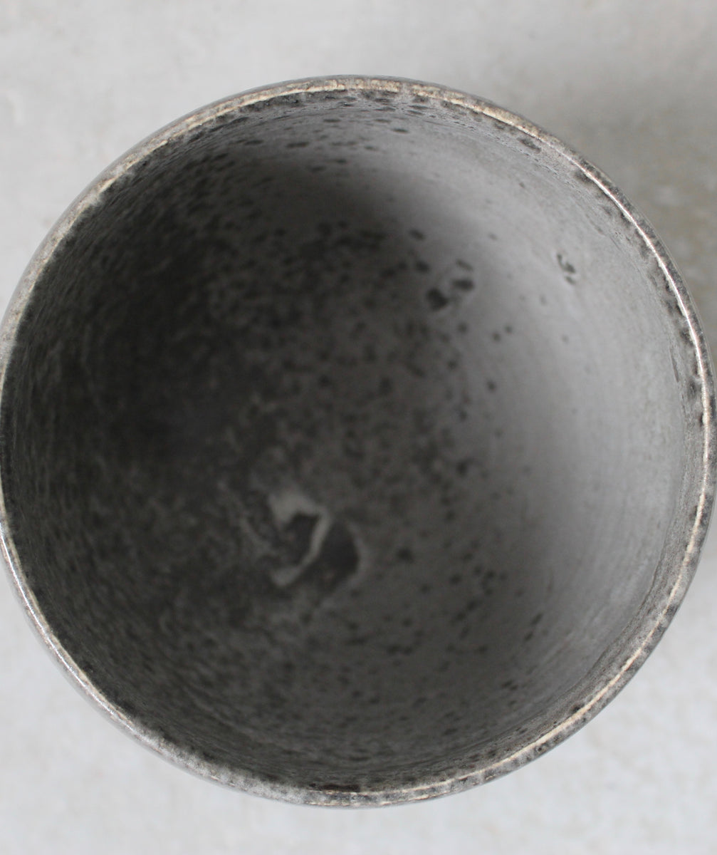 '#66' Small Bonshō Bell Shaped Planter <br> Grey Glaze