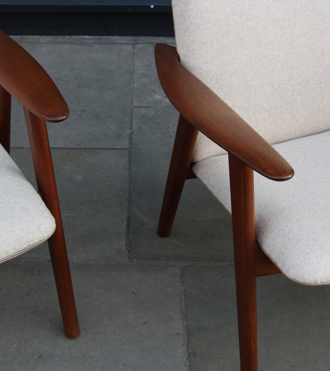 Pair of Armchairs <br> by H. Wegner & J. Hansen