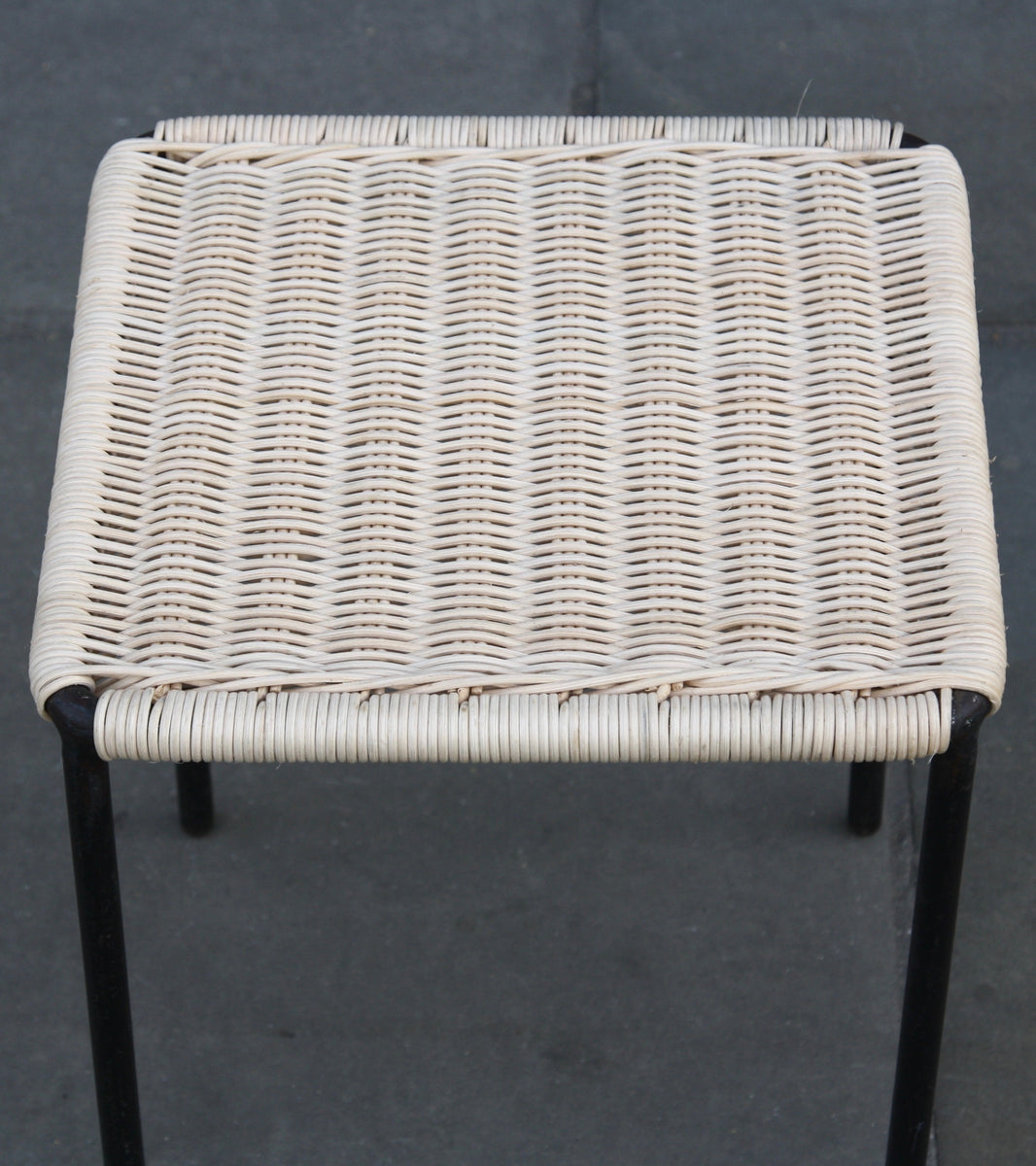 Small Square Wicker Table / Carl Auböck
