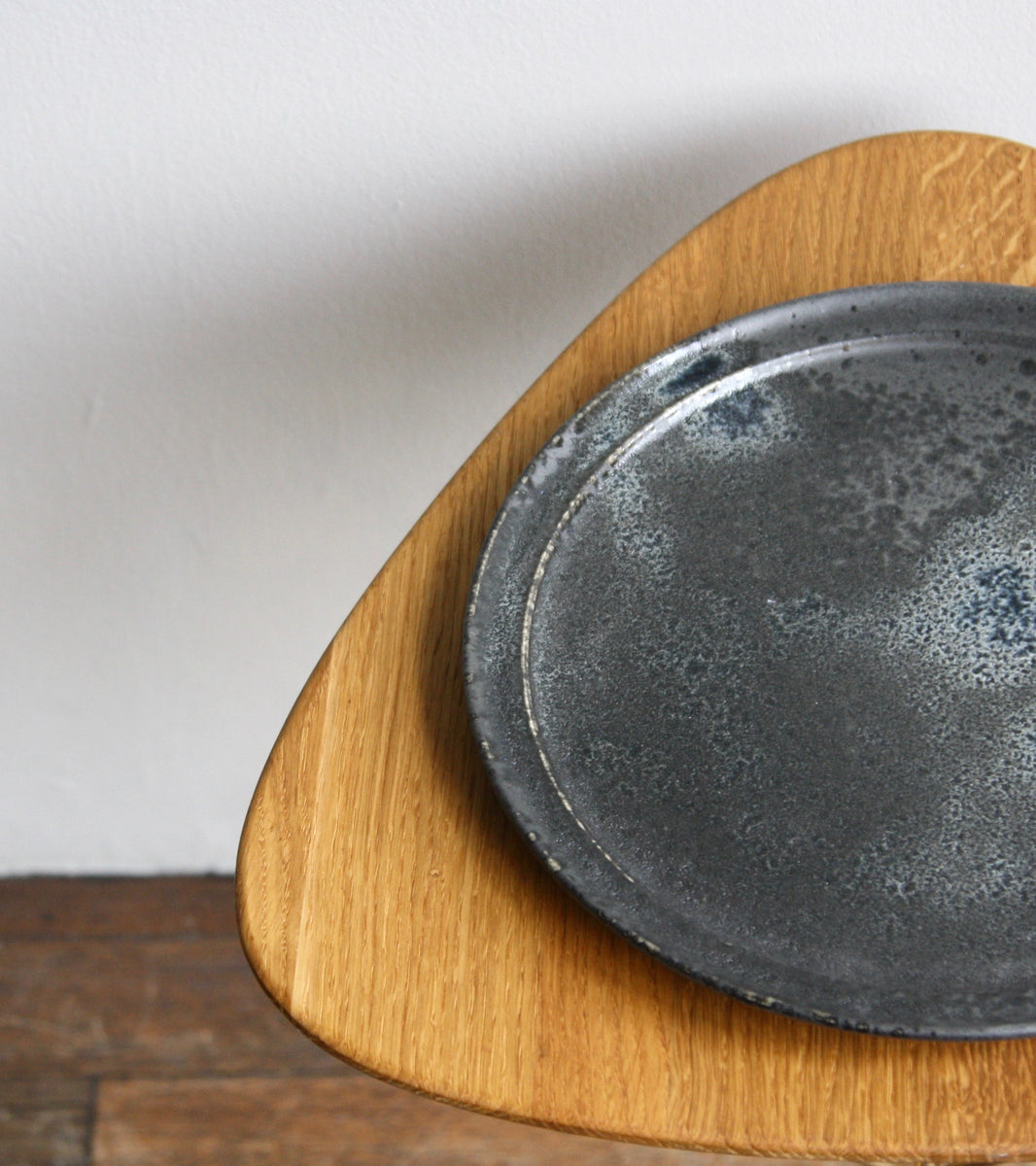 Custom 'Noma' Plate <br> in Black Glaze <br> by KH Würtz