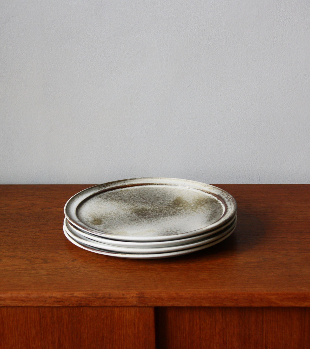 Custom 'Noma' Plate <br> in White & Brown Glaze <br> by KH Würtz