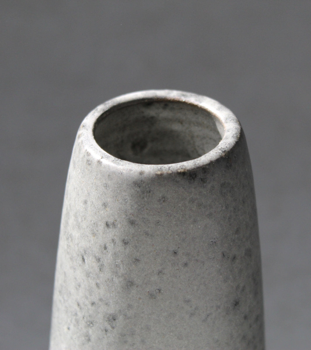 Small Obelisk Vase <br> Granite Glaze
