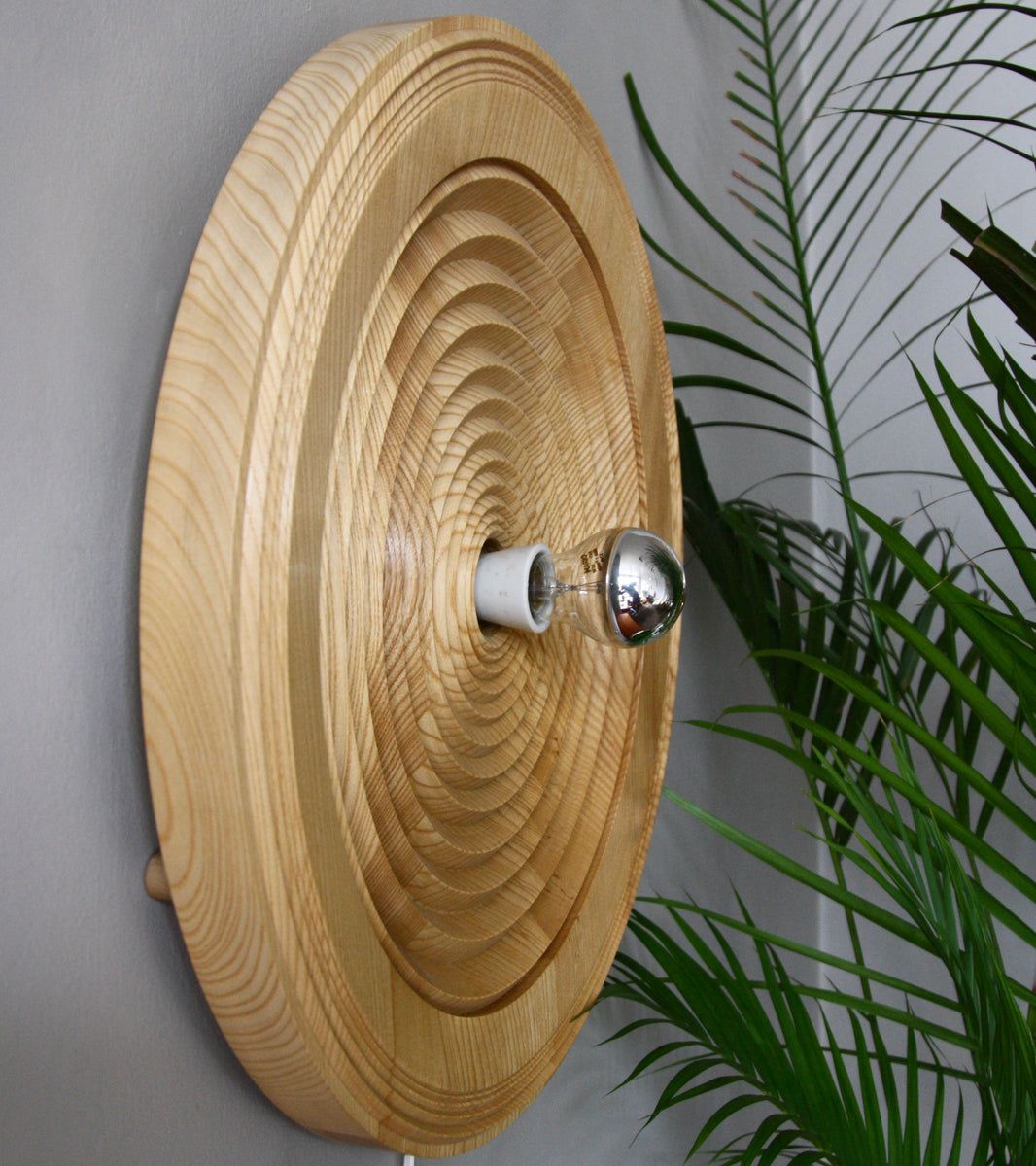 Large Carved Oak Wall Light / Antonín Hepnar, C. 1980
