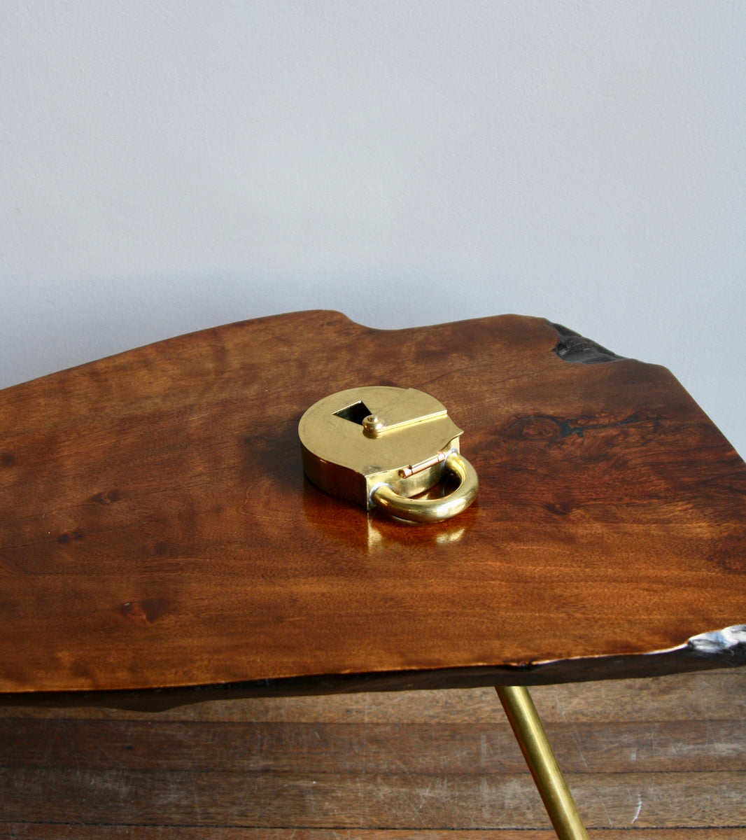 Model #3317 <br> Padlock Trinket Box/Ashtray <br> by Carl Auböck II
