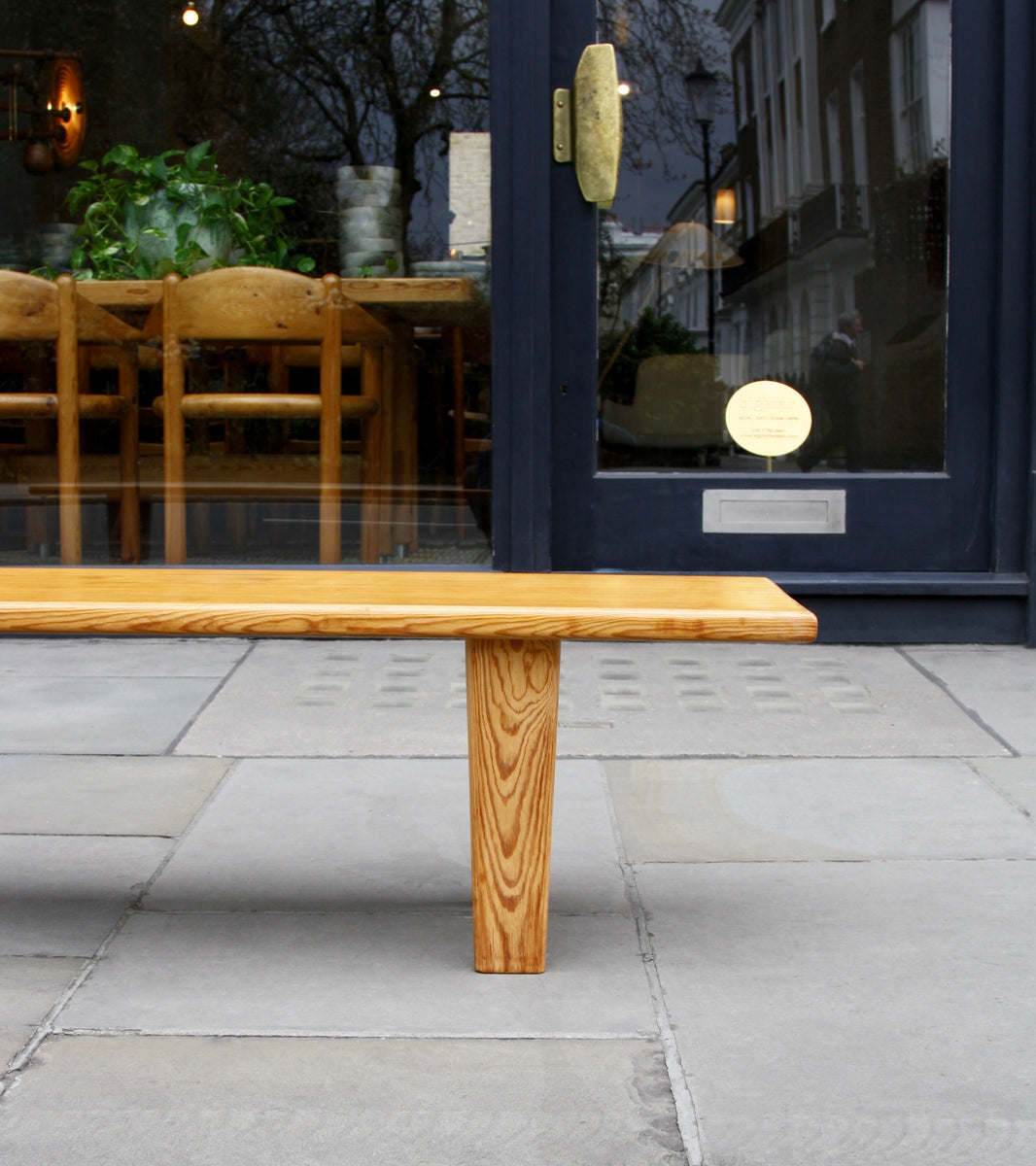 Long Pine Wood Bench <br> Sweden, Circa 1955