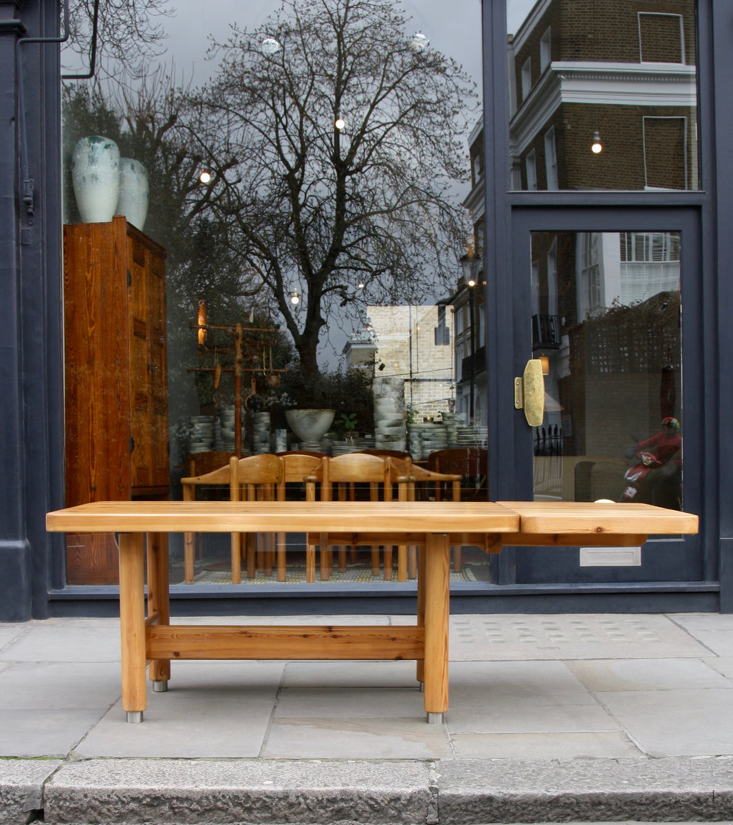 Extendable Solid Pine Table <br> by Knud Friis & Elmar Moltke Nielsen