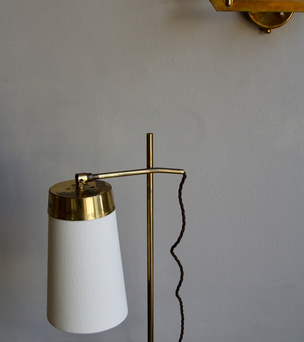 Polished Brass Table Light <br>Denmark, Circa 1950