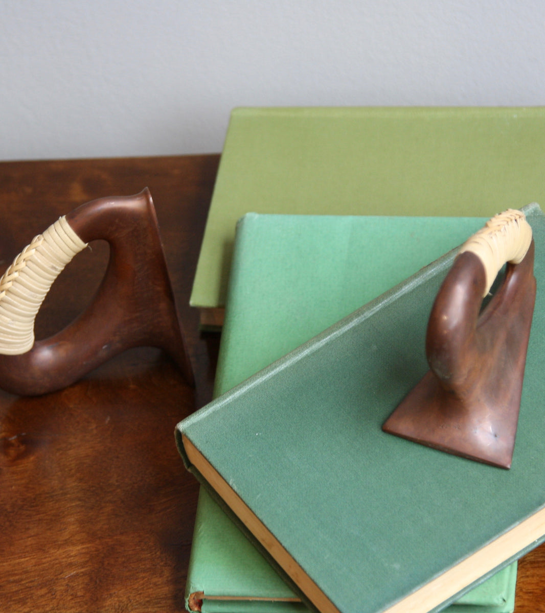 Patinated Flat Iron Bookends by Carl Auböck