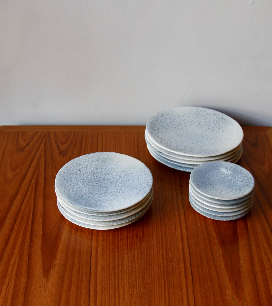 Medium Flat Plate <br>in Stone Blue Glaze <br>by KH Würtz <br>Shape #5