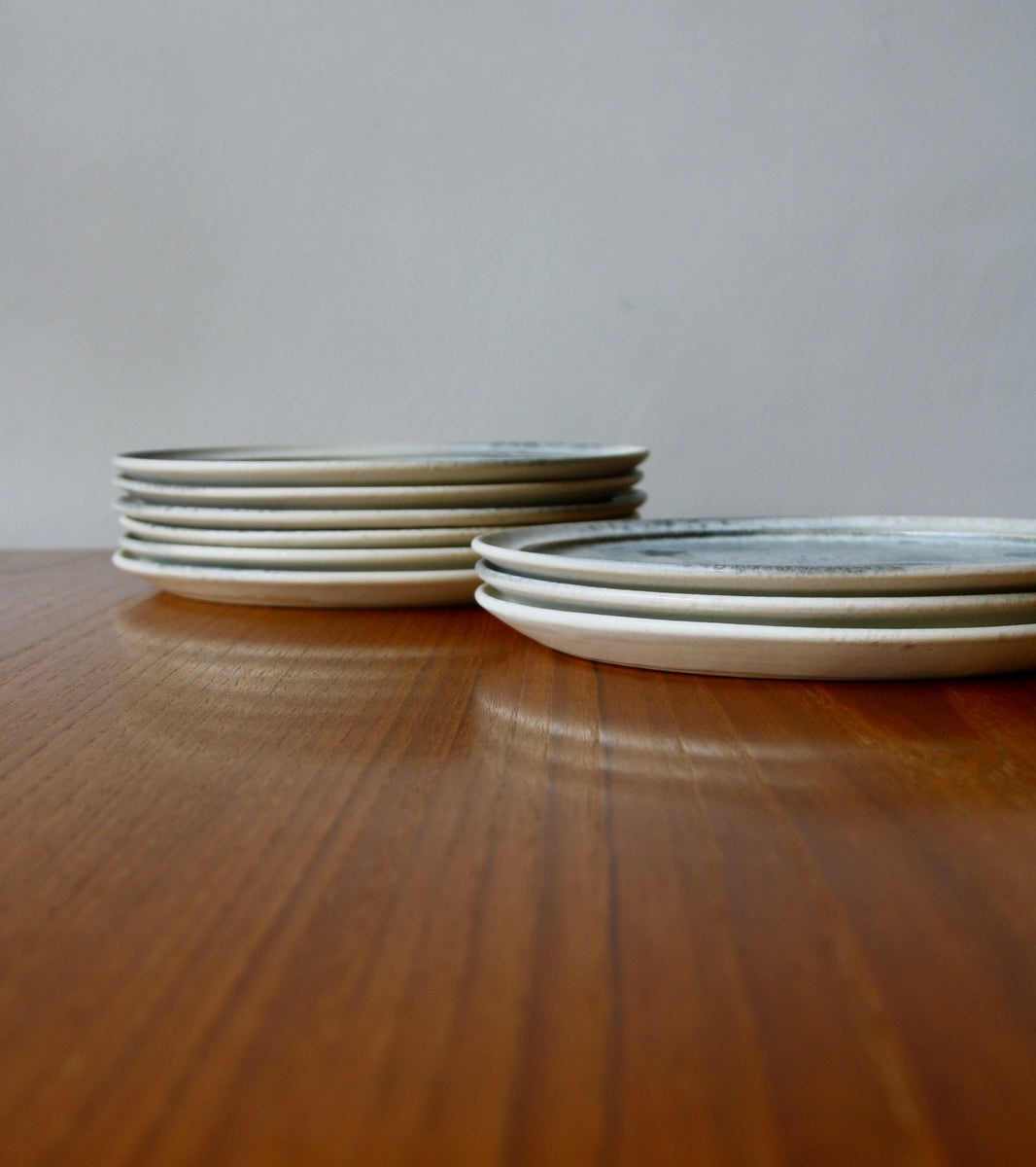 Custom 'Noma' Plate <br> in White & Soft Blue Glaze <br> by KH Würtz