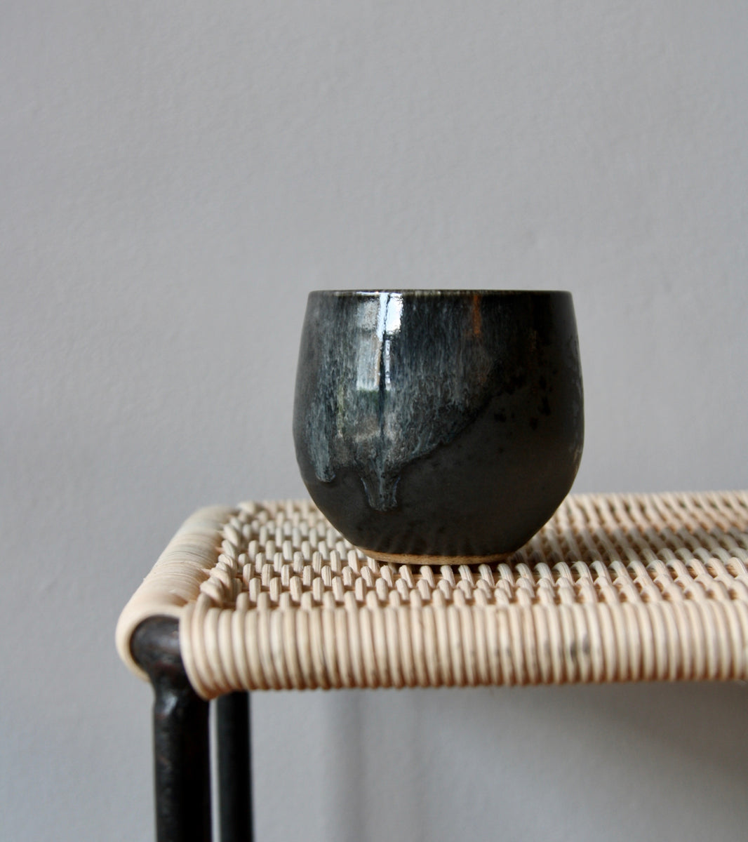 Cup <br> in Black Glaze <br> by KH Würtz <br> Shape #1