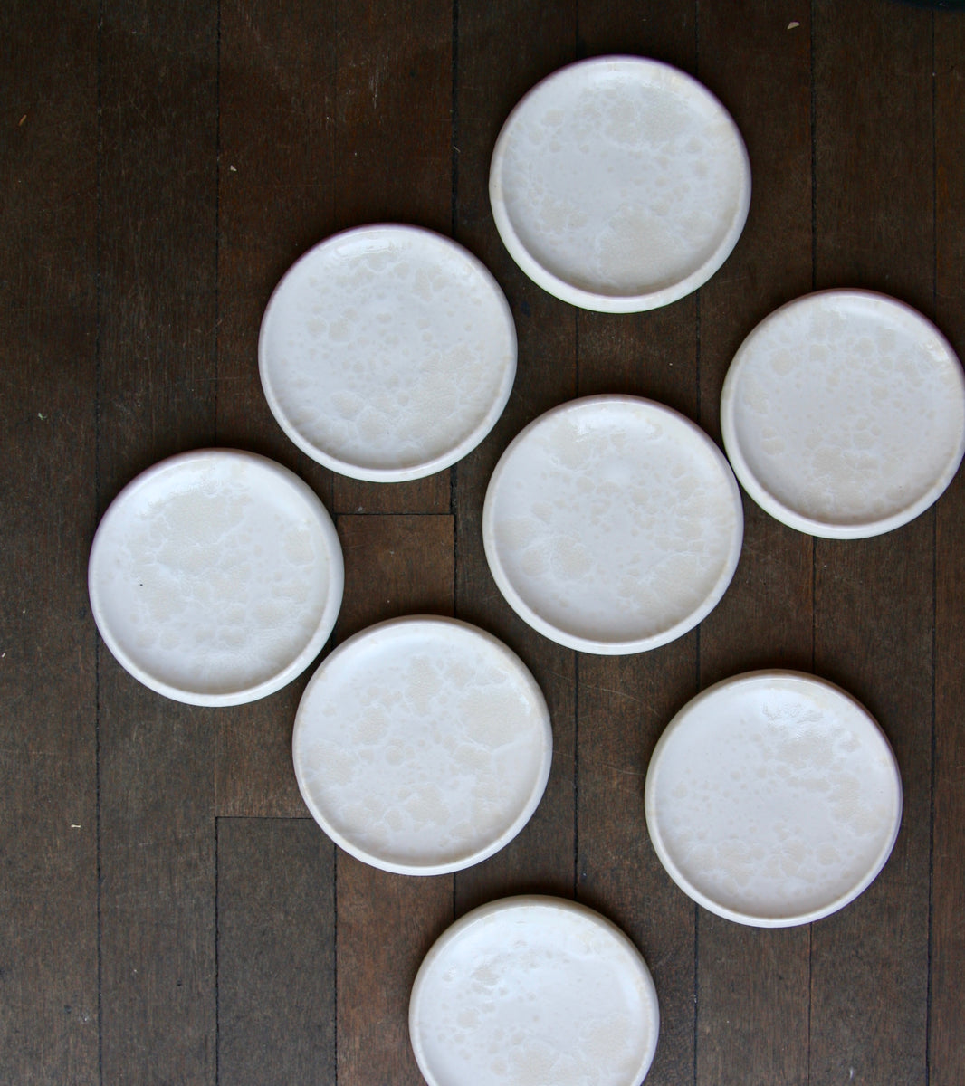 Small Rimmed Plate <br>in Ivory Glaze <br>by KH Würtz <br>Shape #2