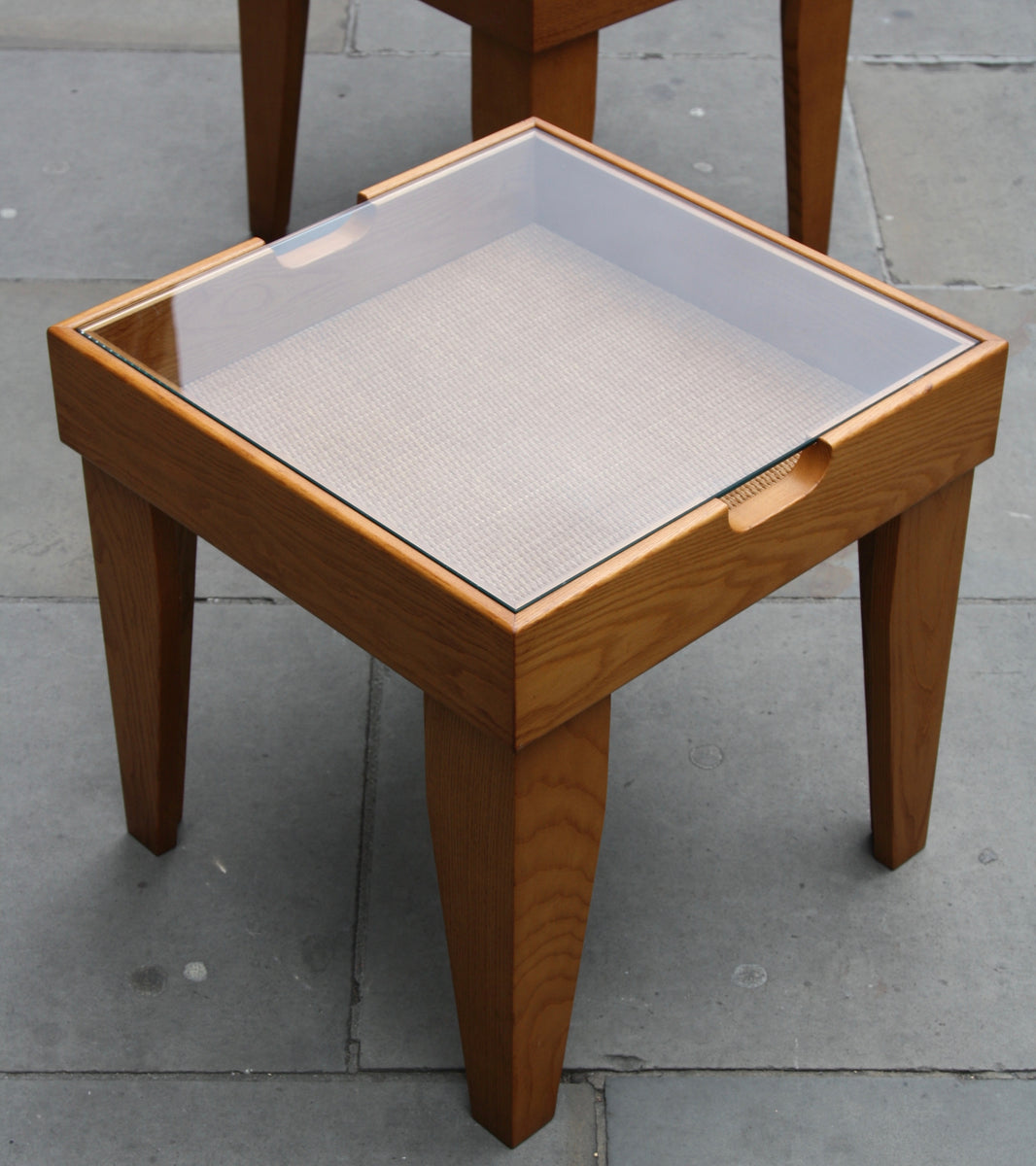 Pair of Brutalist End Tables <br> Britain, Circa 1970