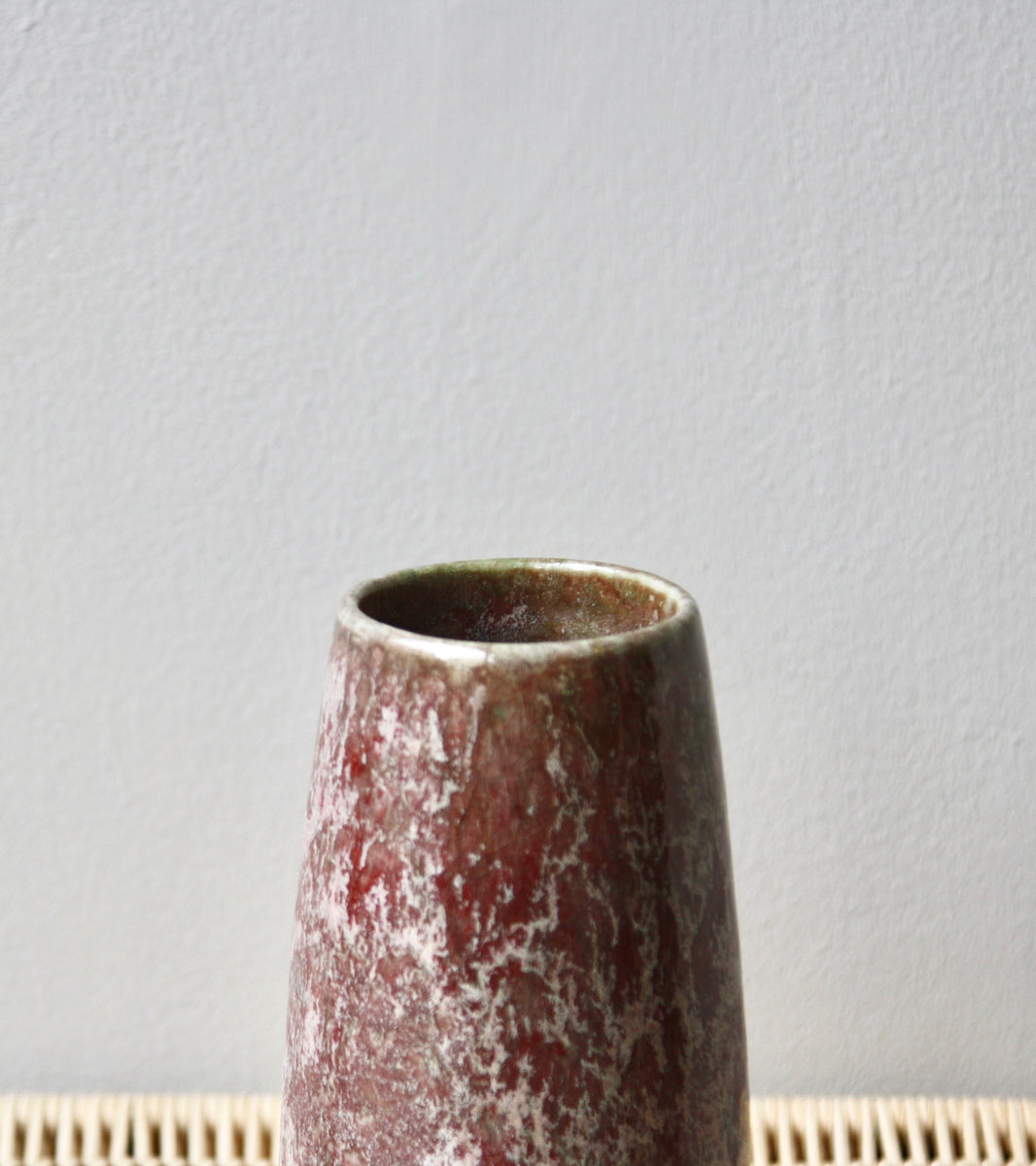 One Off Vase <br> Blossom/ Red glaze <br> by KH Würtz