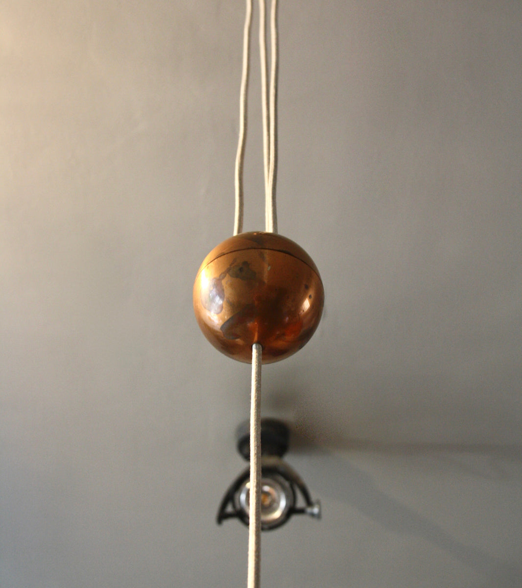 Copper 'Rise & Fall' Pendant <BR> Germany, circa 1960
