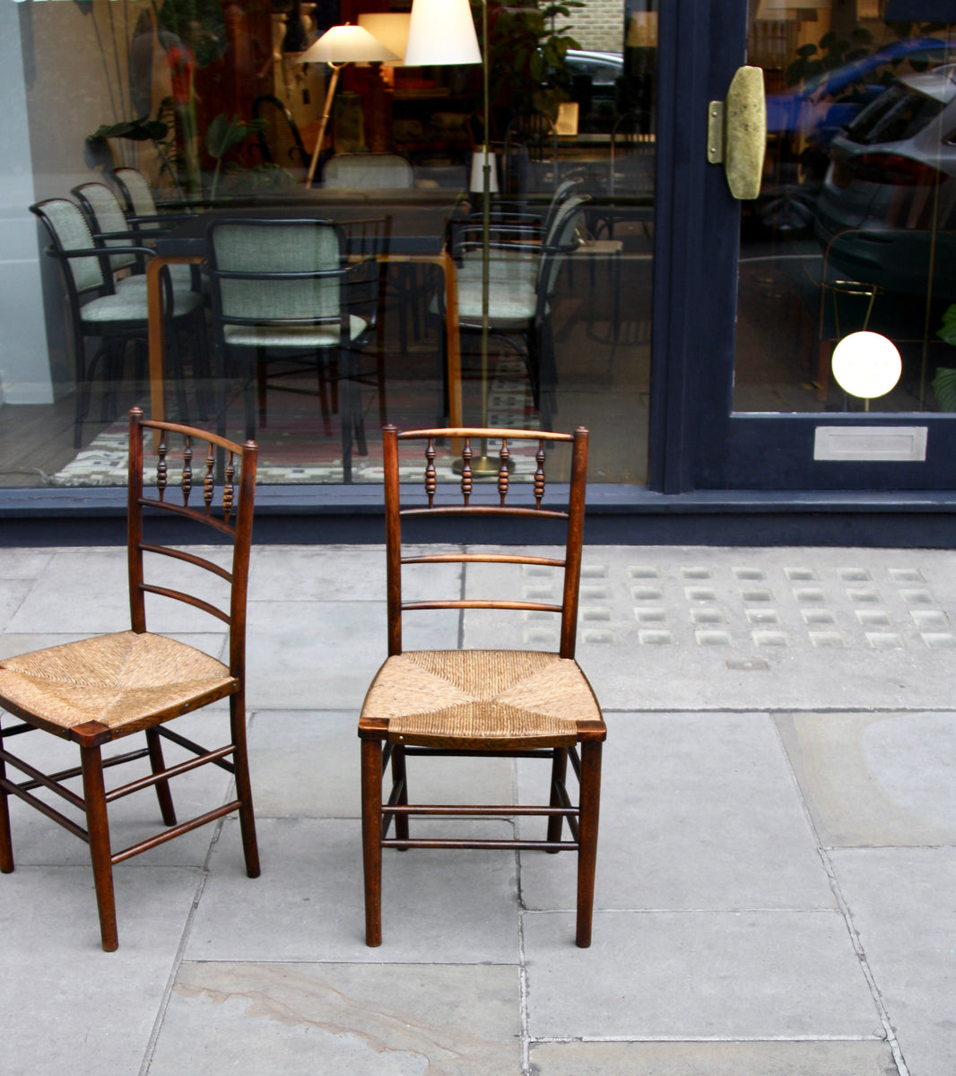 Pair of Arts & Crafts 'Sussex' Chairs <br> by Morris & Co., 1864