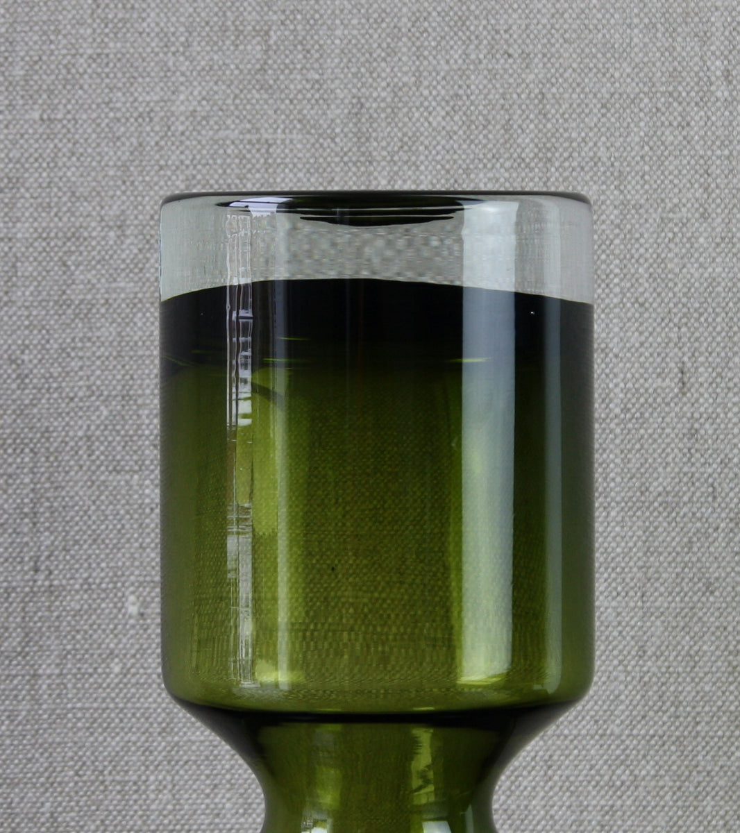 "Olive Green Model 1477 ""Ruusu"" (Rose) Vase <br> Tamara Aladin, 1966"