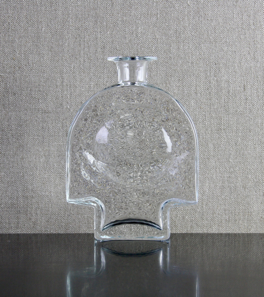 "Clear Model 1717 ""Kyynel"" (Tear) Bottle Vase <br> Nanny Still, 1973"