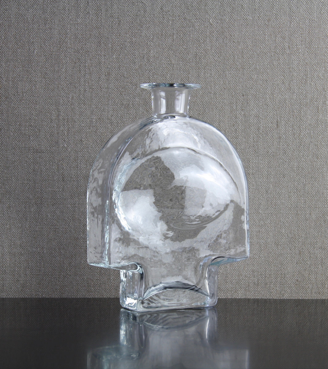 "Model 1717 ""Kyynel"" (Tear) Bottle Vase in Clear by Nanny Still, 1973"