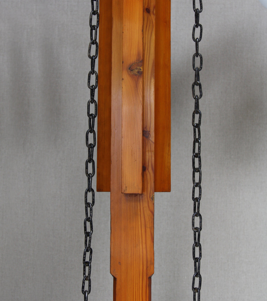 A Monumental Iron, Pine & Glass Chandelier <br> Czechoslovakia, Circa 1910